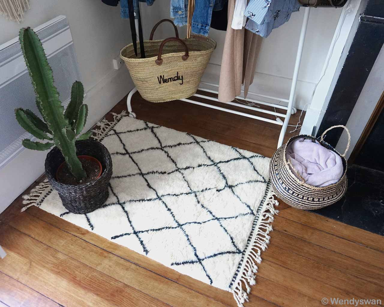cactus in pot cloth basket moroccan rugs