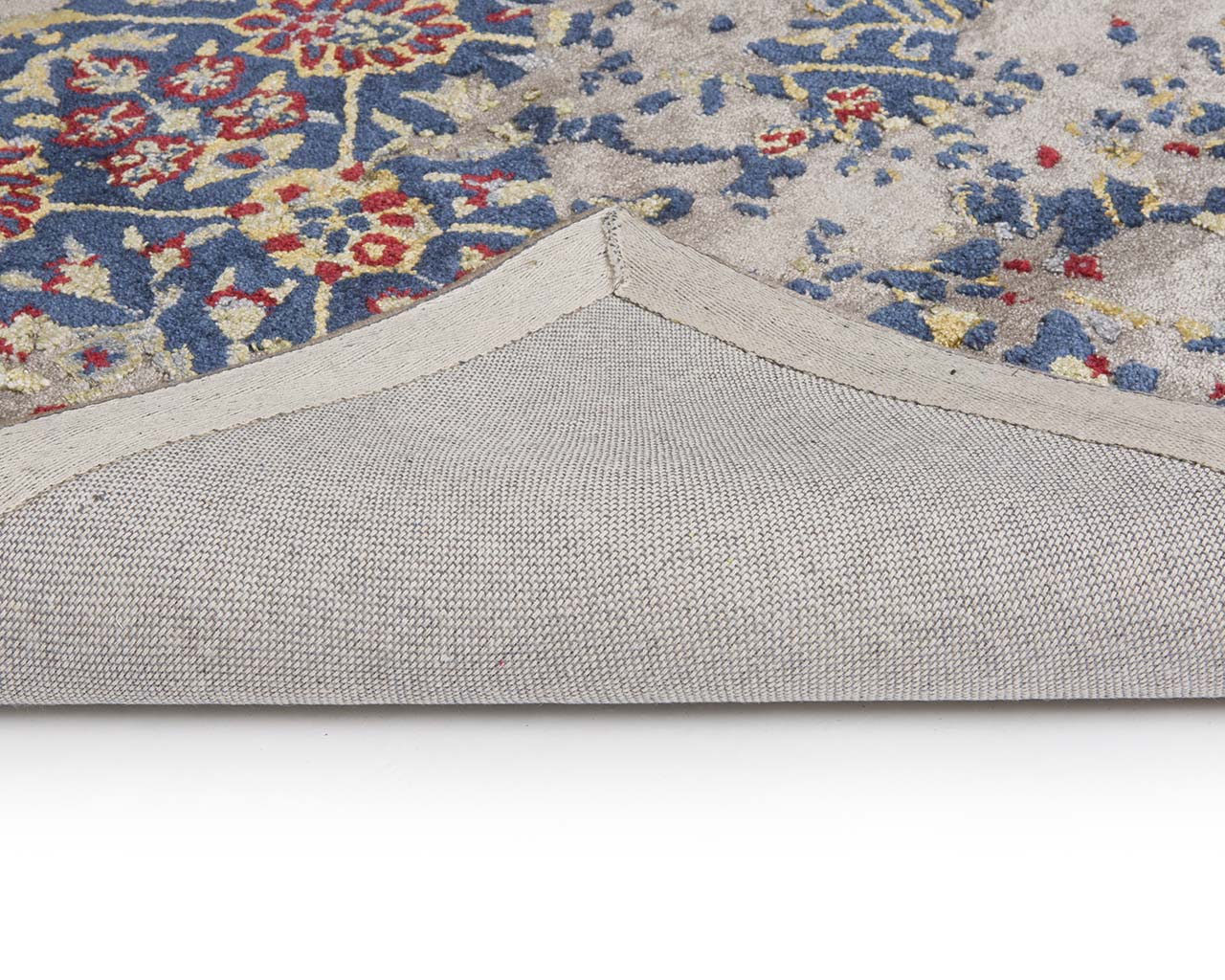 dodger blue tufted oriental floor tapijten