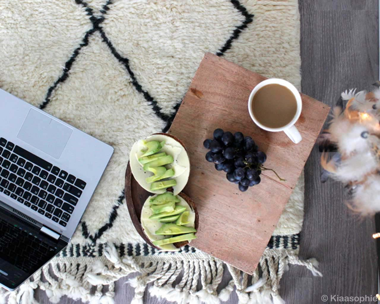 grapes tea and laptop morocco contemporary geometric rug