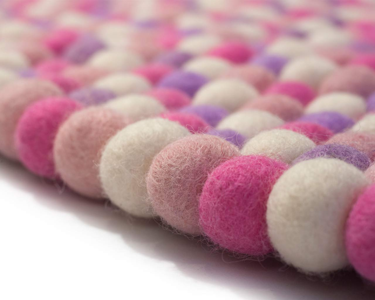baby girl rug handmade soft colors pink