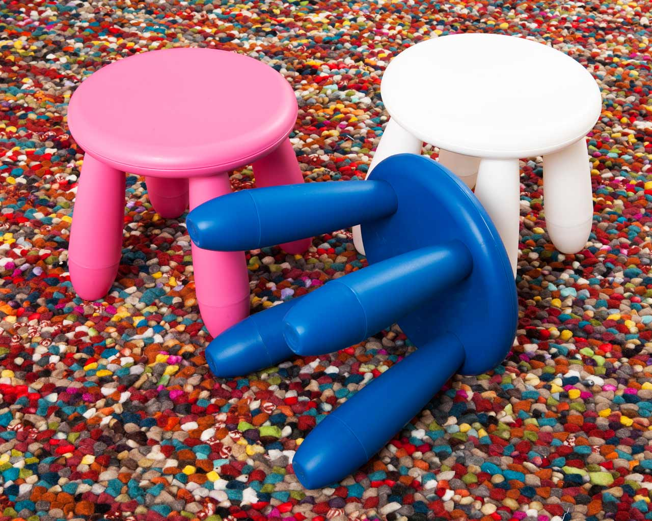 stools young designer colourful carpet