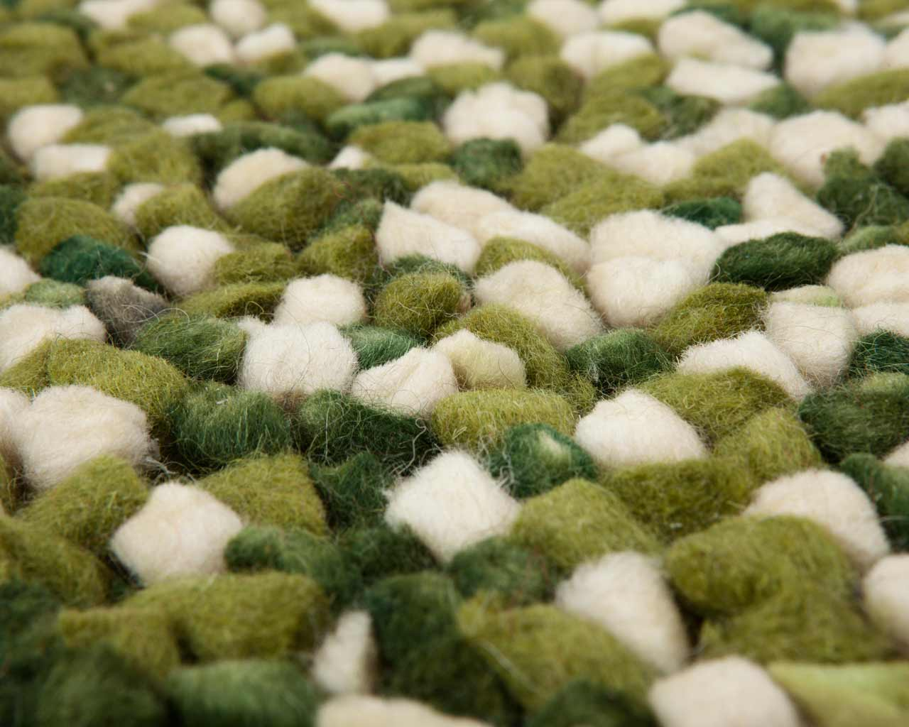 very nice carpet green felted soft