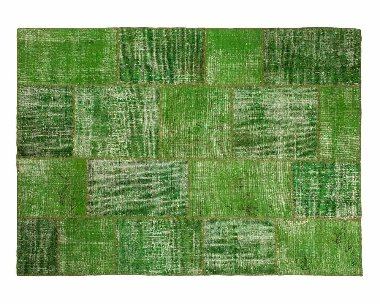 carpet shades green patchwork from turkey