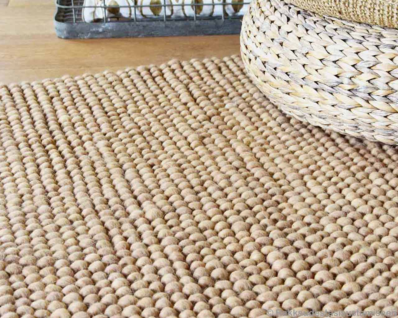 rush basket handmade carpet light brown beige