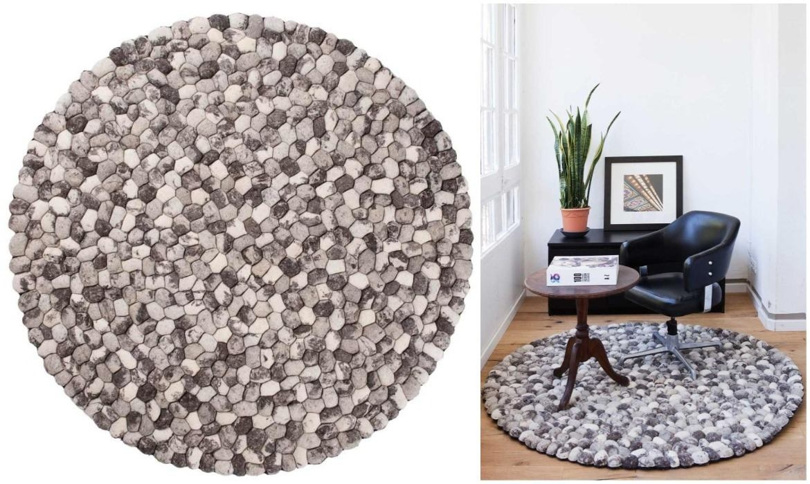 round-grey-stone-rug-for-home-office